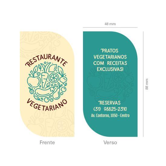 Cartão de Visita Restaurante Vegetariano e Vegano