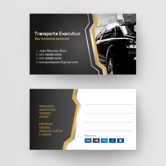 Cartão de Visita Transporte Executivo
