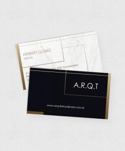 Cartão de Visita Arquitetura – Laminação fosca e verniz