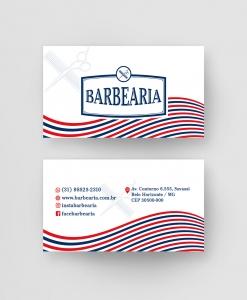 Cartão de Visita Barbearia – Laminação fosca e verniz UV localizado