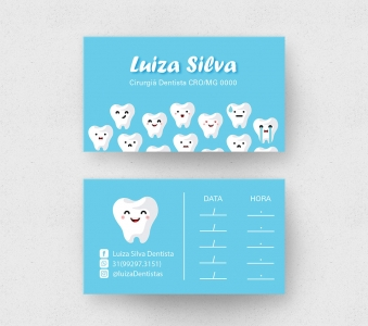 Cartão de Visita Odontologia – Laminação fosca e verniz