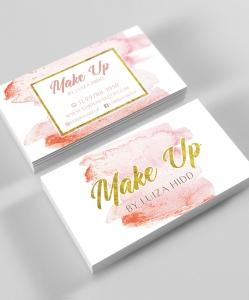Cartão de Visita Make Up – Laminação fosca e verniz