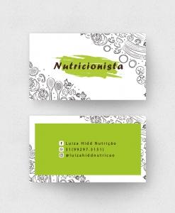Cartão de Visita Nutricionista – Laminação fosca e verniz UV