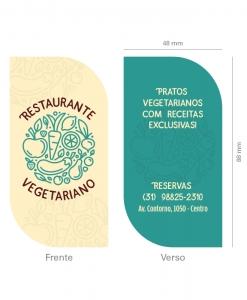 Cartão de Visita Restaurante Vegetariano