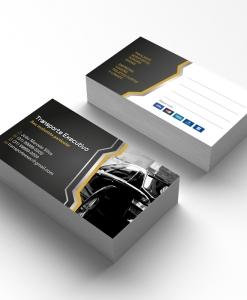 Cartão de Visita Transporte Executivo 1 – Laminação fosca e verniz UV localizado