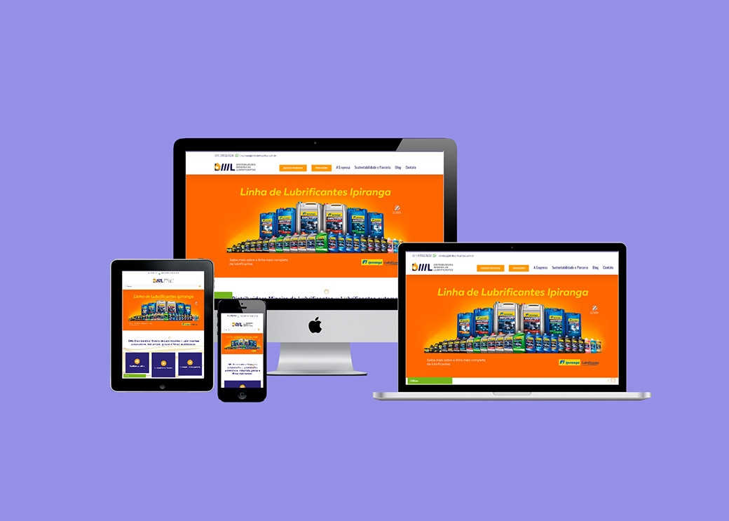 Website DML Lubrificantes