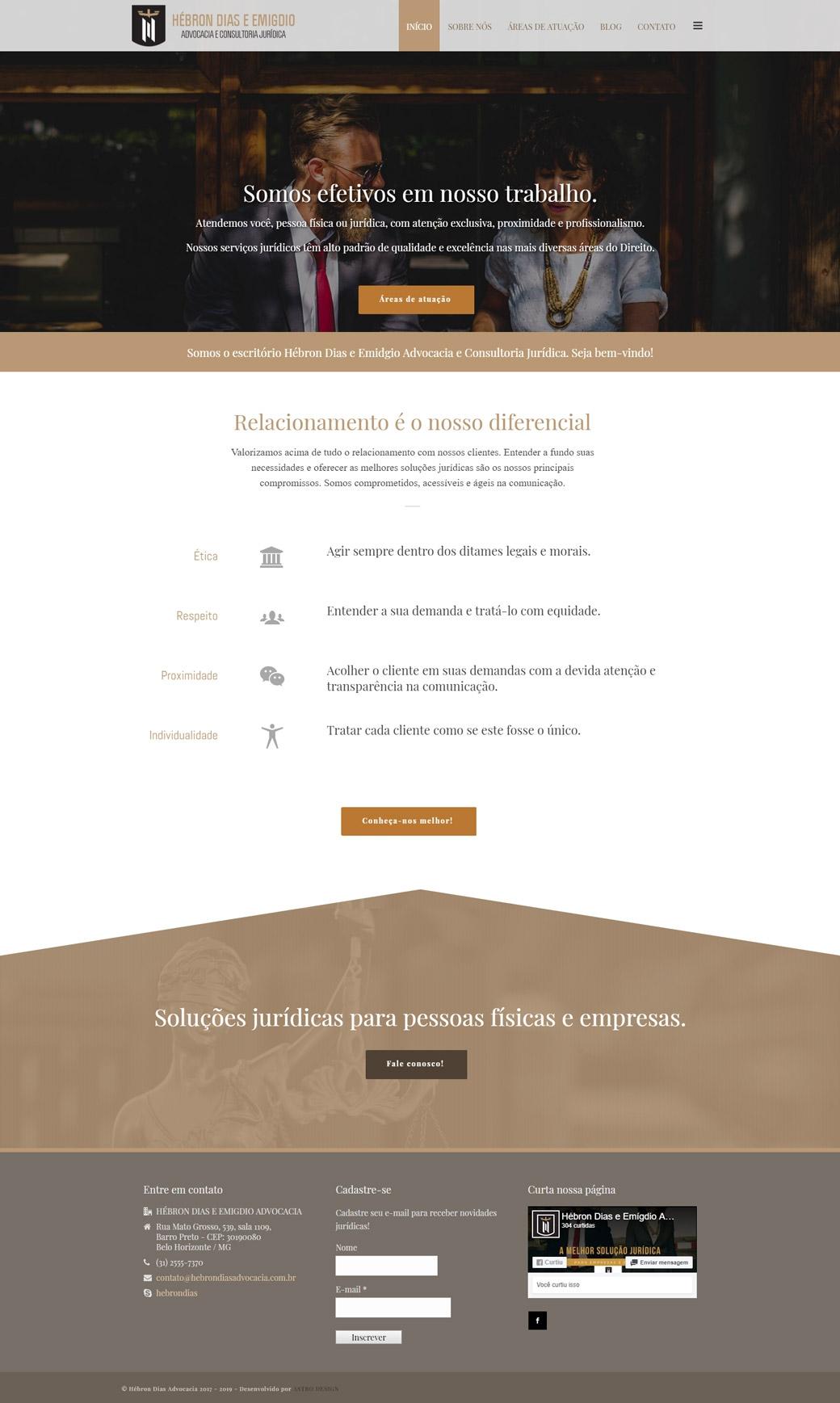 Website Hébron Dias Advocacia