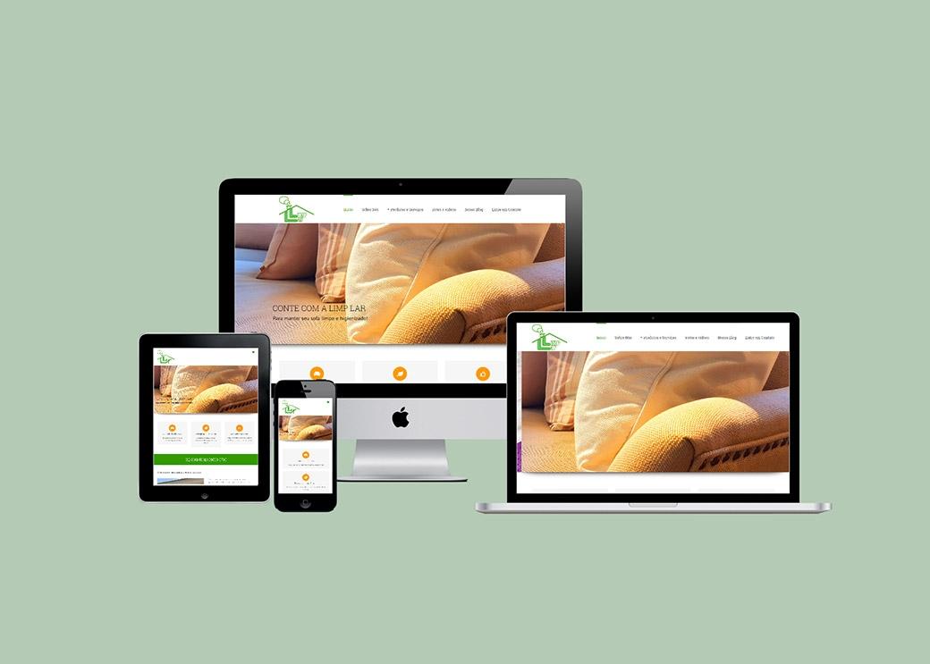 Website Limplar Limpeza de Estafados