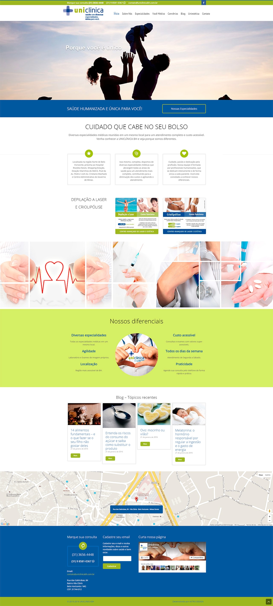 Website Uniclínica BH